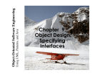 Chapter 9, Object Design: Specifying Interfaces - ICAR