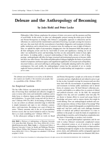Deleuze and the Anthropology of Becoming