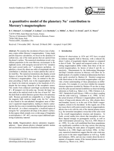 A quantitative model of the planetary Na+ contribution to Mercury`s