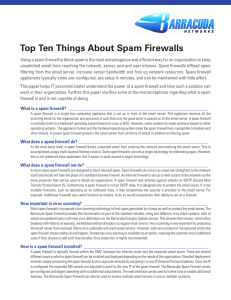 Top Ten Things About Spam Firewalls