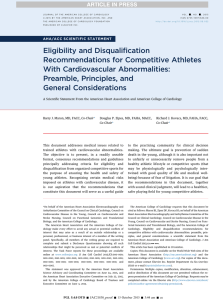 Eligibility and Disqualification Recommendations for Competitive