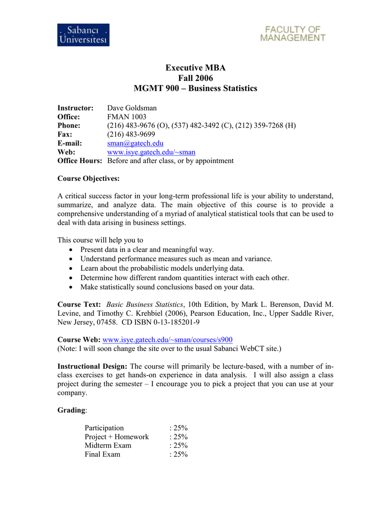 Executive MBA - Georgia Tech ISyE