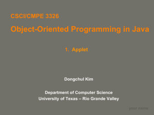 What Are Applets? - UTRGV Faculty Web