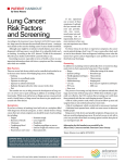 Lung Cancer: Risk Factors and Screening