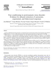Fear conditioning in posttraumatic stress disorder - Ruhr