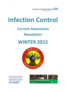 Infection Control - University Hospitals Bristol NHS Foundation Trust