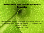 Review and 1.1 Patterns and Inductive Reasoning