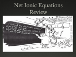 Review of Net-Ionic Equations and Oxidation Numbers–Honors