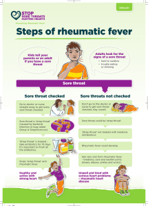 Steps of rheumatic fever