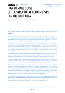 how to make sense of the structural reform lists for the euro area