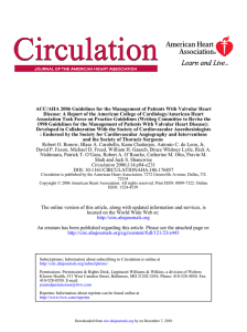 ACC/AHA 2006 Guidelines for the Management of Patients