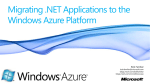 Windows Azure Platform - Overview of the Microsoft Cloud