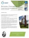 2012 Winter Newsletter - Student Managed Investment Fund