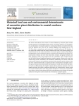 Historical land use and environmental determinants
