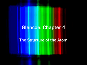 Glencoe Chapter 4 Structure of the Atom for the Wiki