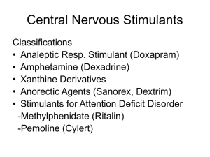 Central Nervous Stimulants