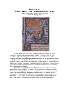 The Crusades: Religion, Violence, and Growth in Medieval Europe