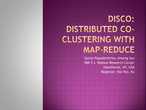 DisCo: Distributed Co-clustering with Map