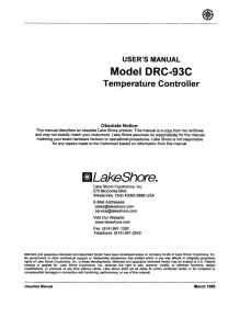 Model DRC-93C - Lake Shore Cryotronics, Inc.