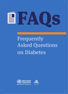 FAQs on Diabetes pdf, 1.05Mb - WHO South-East Asia