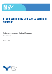 Brand community and sports betting in Australia