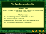 Lesson 17-2: The Spanish American War