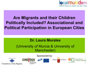 Associational and Political Participation in European Cities