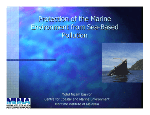 Protection of the Marine Environment from Sea