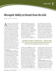 Microgrid: Ability to Detach from the Grid