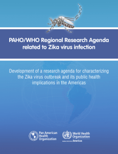 PAHO/WHO Regional Research Agenda related to Zika