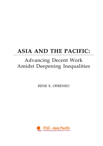 Asia and the Pacific: Advancing Decent Work Amidst - UP
