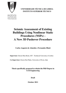 Seismic Assessment of Existing Buildings Using Nonlinear Static