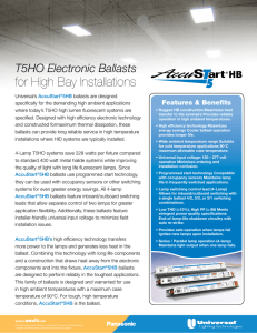 for High Bay Installations - Universal Lighting Technologies