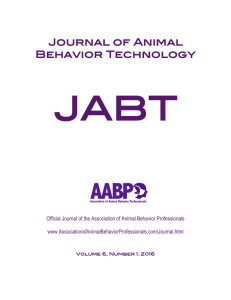 Journal of Animal Behavior Technology
