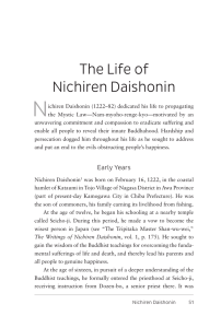 The Life of Nichiren Daishonin - Sgi-Usa