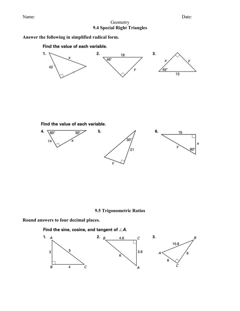 honors geometry homework answers for section 9.4