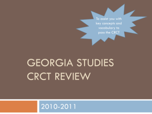 Georgia studies crct review - Jackson County Faculty Sites!