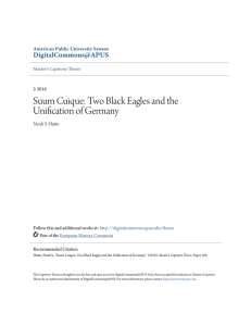 Suum Cuique: Two Black Eagles and the Unification of Germany
