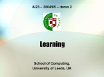 Learning - School of Computing | University of Leeds