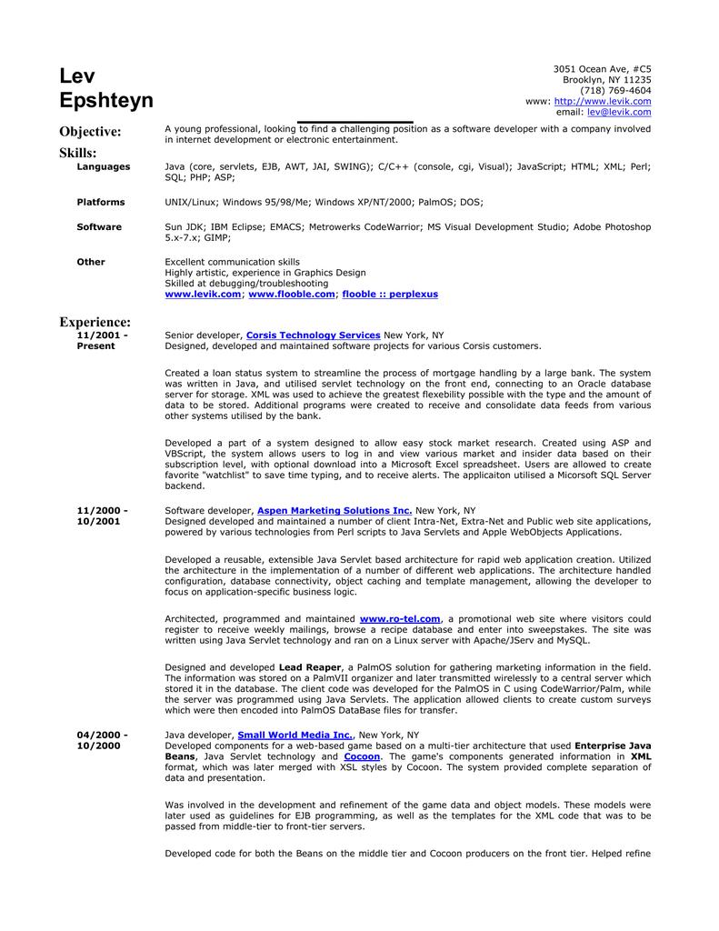 levik | resume | print