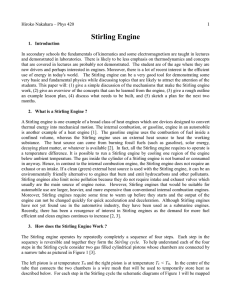 Original Stirling Engine demonstration proposal