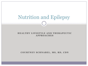 Nutrition and Epilepsy - Finding a Cure for Epilepsy and Seizures