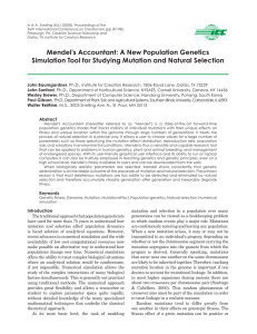 Mendel`s Accountant: A New Population Genetics Simulation Tool