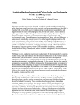 Sustainable development of China, India and Indonesia: Trends and