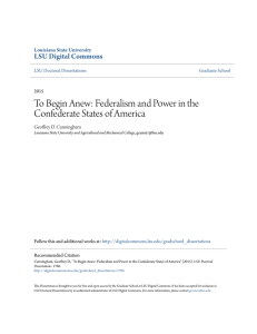 Federalism and Power in the Confederate States of America