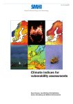Climate indices for vulnerability assessments