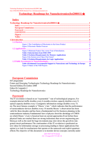 Technology Roadmap for Nanoelectronics(Ist200011)★