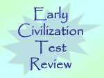 Early Civilizations Test Review
