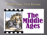 Middle Ages Test Review