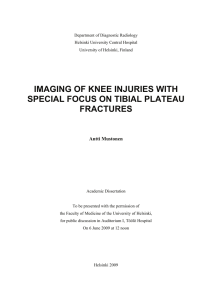 Imaging of knee injuries with special focus on tibial plateau